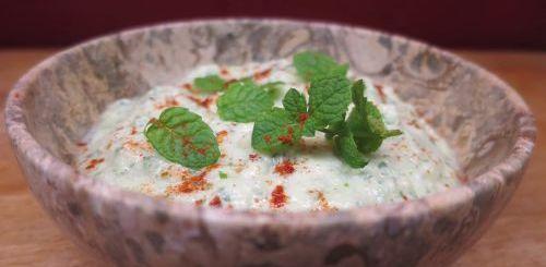 Crème de courgette à la menthe