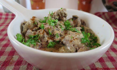 Foies de volaille au paprika
