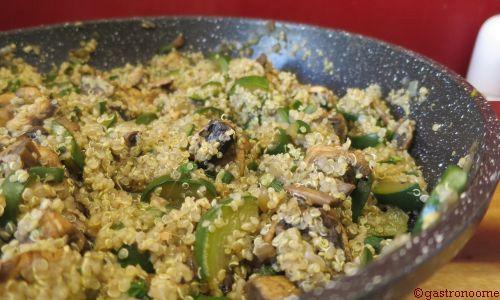 Poêlée de quinoa et courgettes à la menthe
