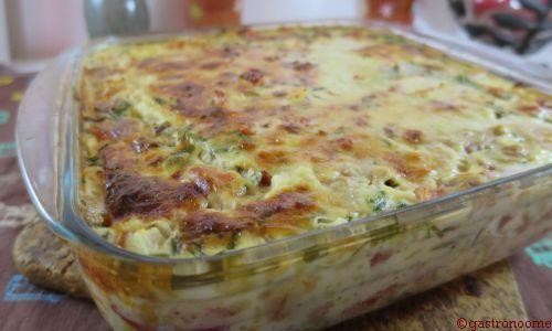 Quiche sans pâte thon & tomates