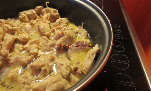 Emincé de poulet au miel