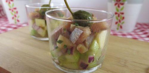 Salade de harengs aux pommes en verrines ou pas