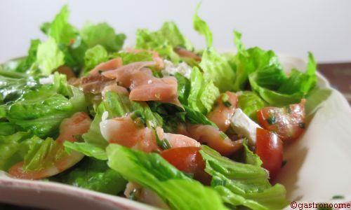 Salade saumon & crevettes