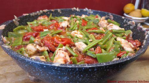 Poêlée de poulet aux coco plats