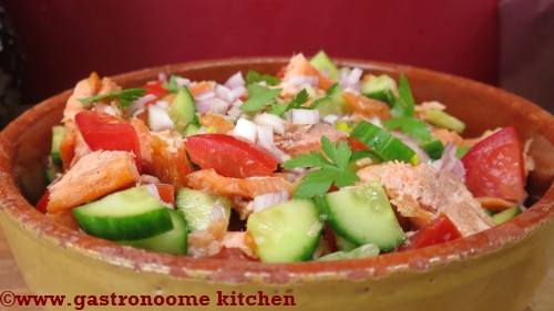 Salade de truite