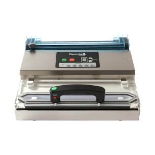 vakuumförpackare för 30 cm-påsar med tillsats för rullar sedd ovanifrån