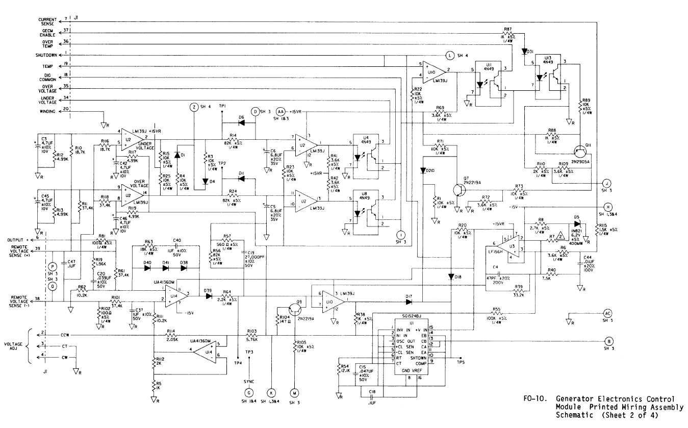 Fo 10 Generator Electronics Control Module Printed Wiring