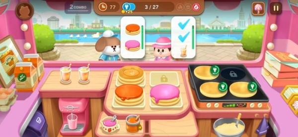 序盤はパンケーキ屋さんを運営