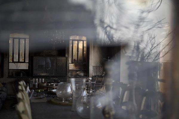 صور من حريق اسرائيل