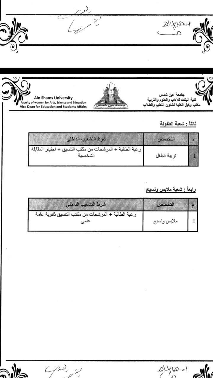 كلية البنات جامعة عين شمس Compartio كلية البنات جامعة عين