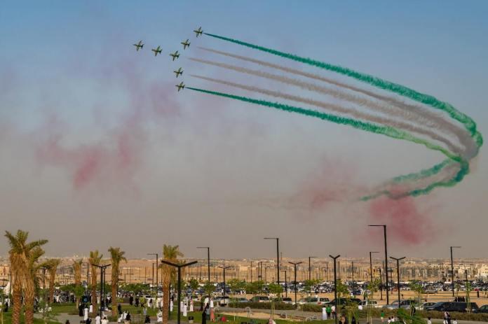 Part of Saudi Arabia's celebrations of the Kingdom's National Day