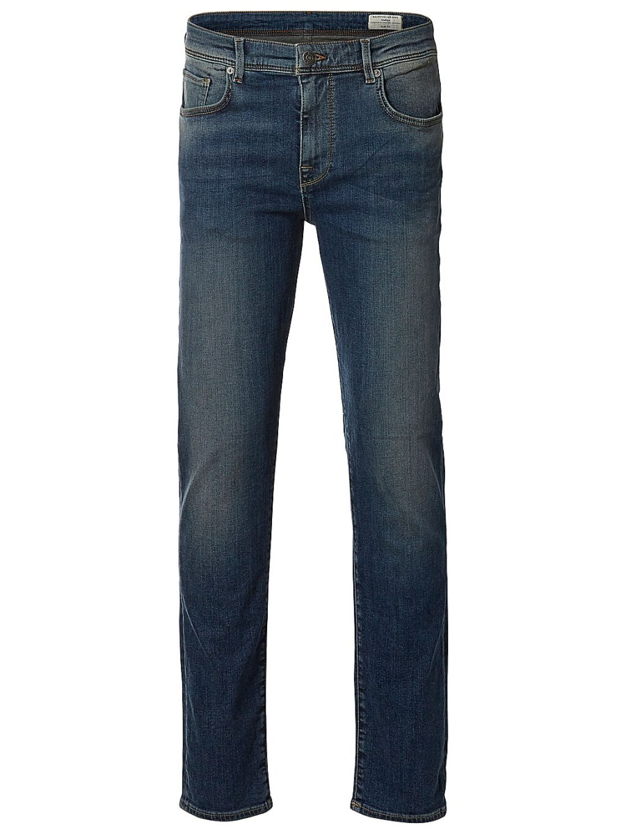 Selected Jeans - Leon 1004 Medium Blue   Gate 36 Hobro
