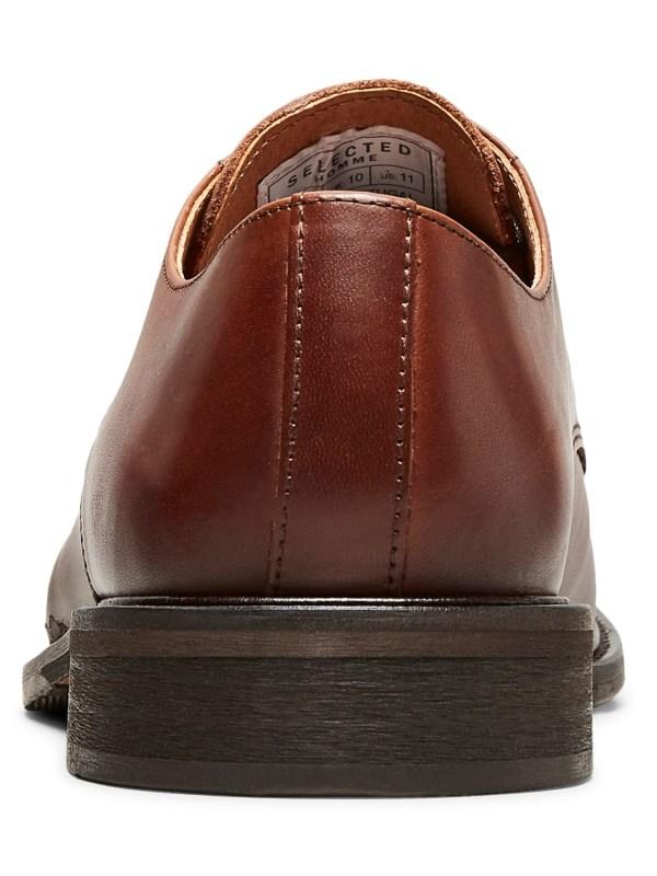 Selected Baxter Derby Leather Shoe - Brun | Gate 36 Hobro