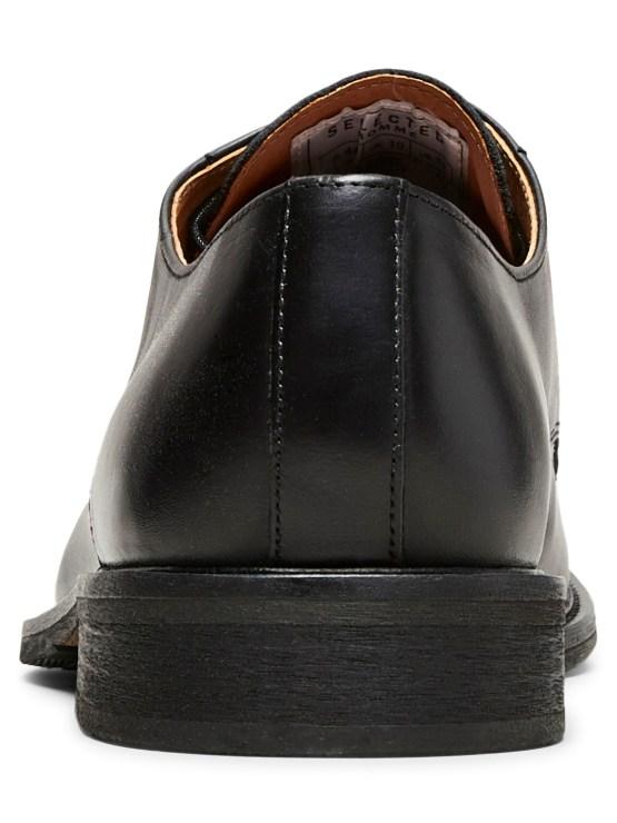 Selected Baxter Derby Leather Shoe - Black | Gate 36 Hobro