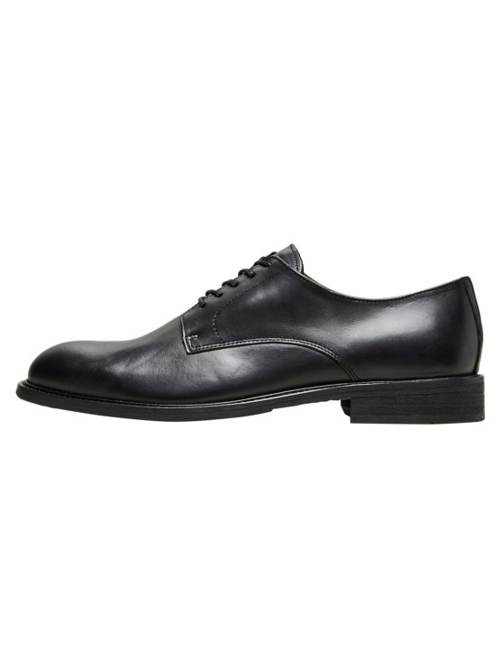 Selected Baxter Derby Leather Shoe - Black | Gate 36 Hobro