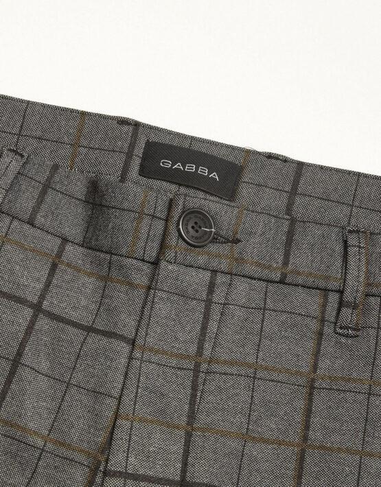 GABBA - PISA PANTS BIG CHECK GREY/YELLOW | GATE 36 HOBRO