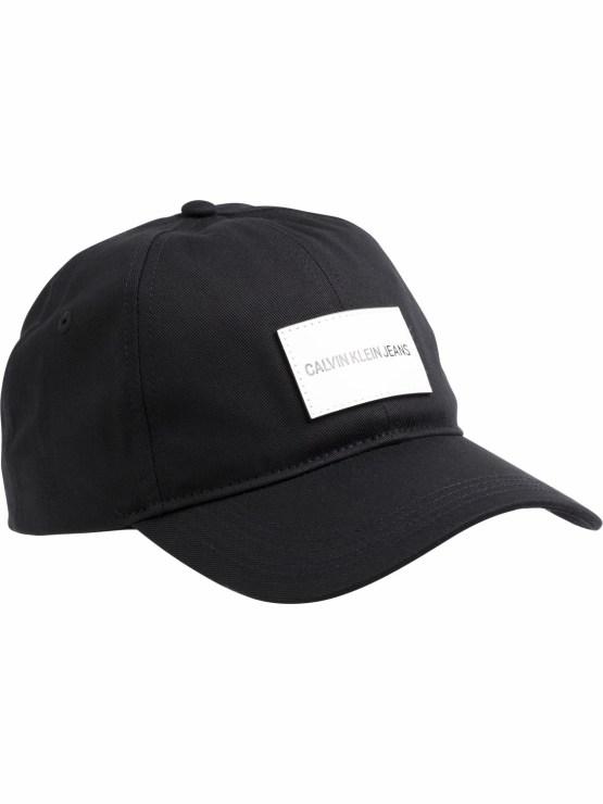 K50K504562 Calvin Klein Badge Cap Black   GATE36 Hobro