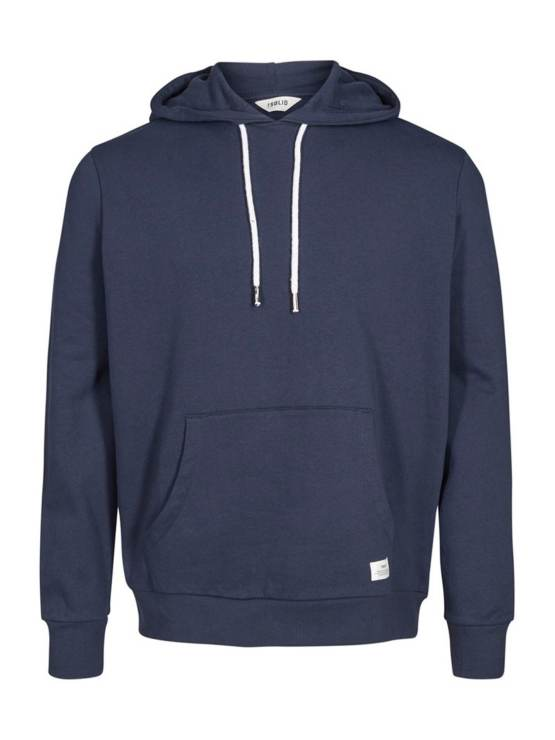 Solid Morgan Hood Sweat Navy | GATE36 Hobro
