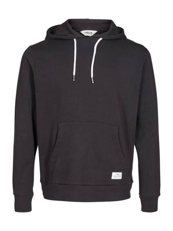 Solid Morgan Hood Sweat Black | GATE36 Hobro