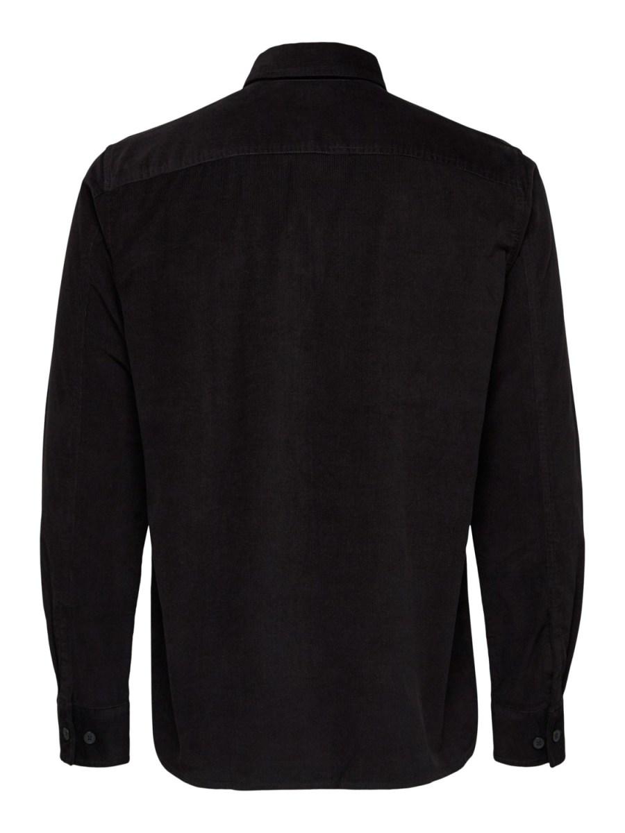Selected Skjorte - SLHREGCRAIG-CORD BLACK   GATE36 Hobro