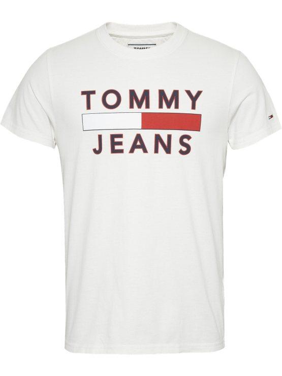 Tommy Hilfiger - TJM Logo Tee White | GATE36 Hobro