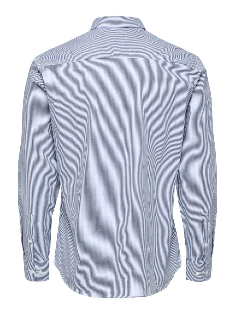 Selected Skjorte - Slim Scandic Blue Stripe   GATE36 Hobro