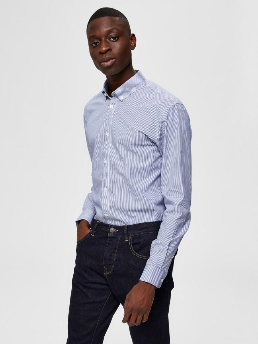 Selected Skjorte - Slim Scandic Blue Stripe | GATE36 Hobro