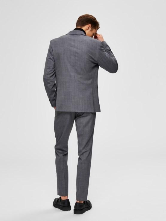 Selected Blazer - Slhslim Flex Grey