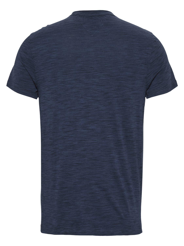 TOMMY HILFIGER - T-shirt Texture Logo Navy | GATE 36 Hobro