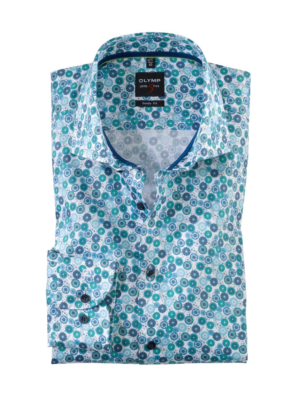 Olymp - Skjorte White / Green | GATE 36 Hobro