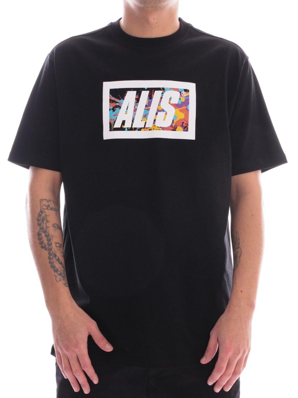ALIS- T-SHIRT SPLATTER BLACK   GATE36 HOBRO