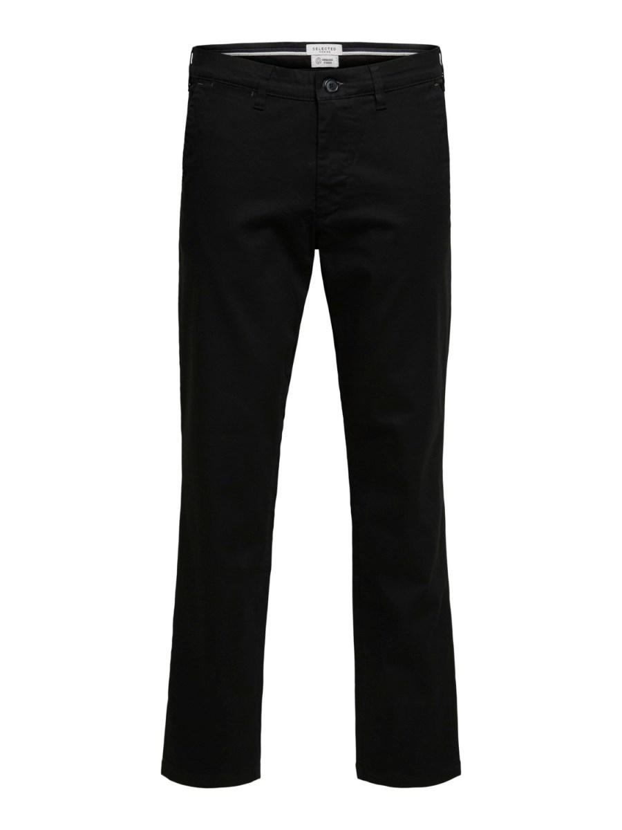 Selected Chino´s flex pants black   Gate36 Hobro