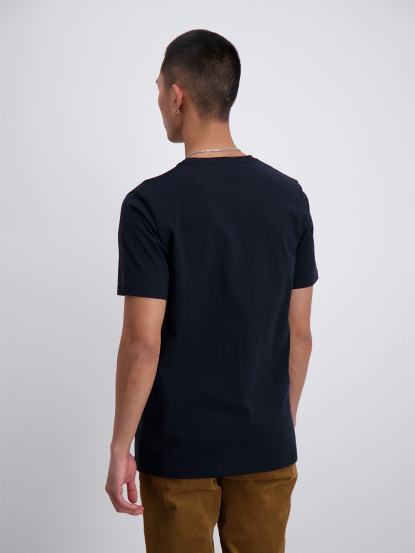 Junk De Luxe - Vilfred logo stripe print tee black | GATE 36 Hobro