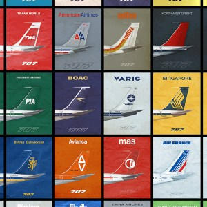 707 Empennage 1970s Airliner Poster – 11 x 17 (2018) (1st Printing)