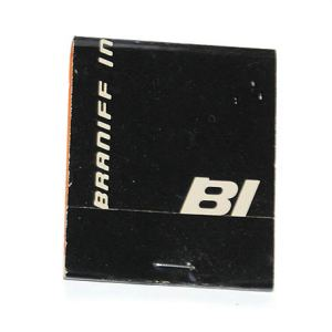 Braniff International Airlines Matchbook/Matches BLACK