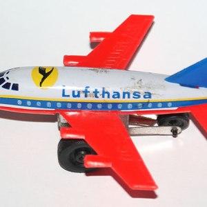 Lufthansa Douglas DC-8 Made in Japan Tin Toy