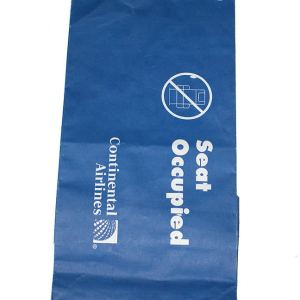 Continental Airlines Air Sickness Discomfort Bag