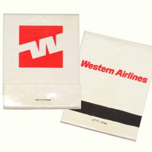 Western Airlines Matchbook/Matches