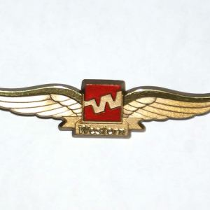 Western Airlines Jr. Pilot Wings – Pinback