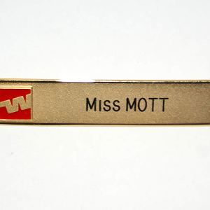 Western Airlines Flight Attendant Crew Name Tag Pin