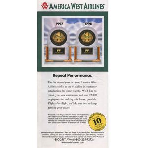 America West Ticket Envelope