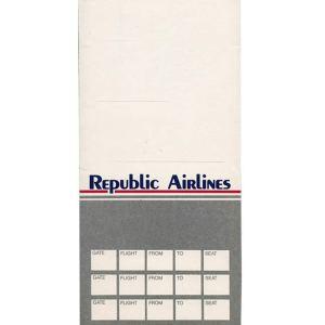 Republic Airlines Ticket Envelope