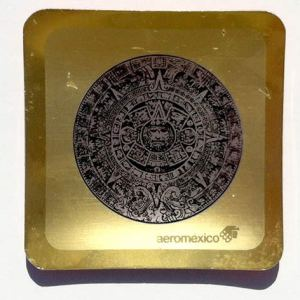 Aeromexico Airlines Commemorative Aztec Ashtray