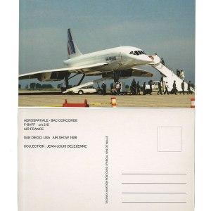 Air France Concorde Landing Postcard