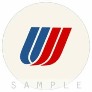 Retro Airline Fabric Drink Coasters – United – Tulip