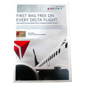 Delta Air Lines Sky Miles In-Flight Promotional Card