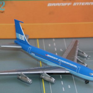 Jet-X Braniff International Boeing 720, (BLUE) 1:400 Scale Model