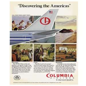 Fictional Columbia Airlines Advertisement tee