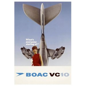 Vintage Style BOAC VC-10 Advert Tee