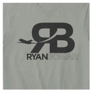 Ryan Bomar Branded Tee Ash